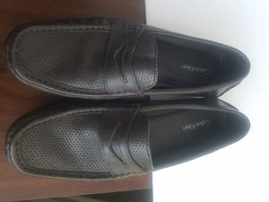 Calvin Klein Dustin Men's Black Pebble Leather Slip on Loafers Driving Shoes 10M for Sale in Knightdale, NC