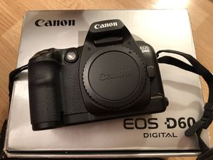 Camera Canon D60 for Sale in Skokie, IL