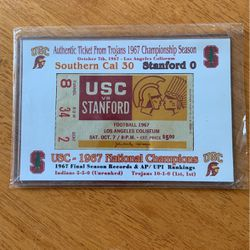 1967 Ticket Stub USC vs. Stanford for Sale in Elma,  WA