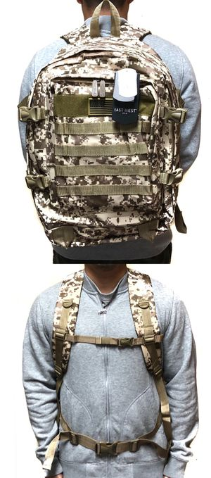 NEW! Camouflage Tactical military style BACKPACK molle camping fishing hiking drone Bag school bag work travel luggage bag workout gym work bag for Sale in Carson, CA