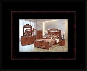 11pc Ashley Cherry bedroom set with mattress for Sale in Manassas, VA