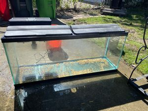 55 gallon fish tank with most included for Sale in Garfield Heights, OH