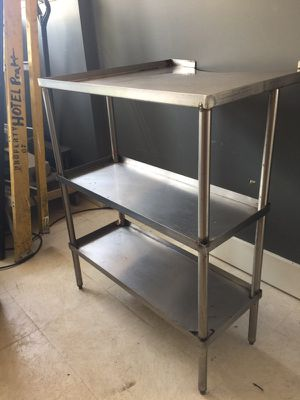 Stainless steel Table and Shelf for Sale in Waterville, NY