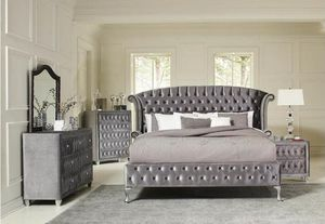 4-Pcs Queen size Upholstered bedroom set. SPECIAL OFFER. $53 DOWN PAYMENT for Sale in Orlando, FL