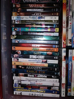 203 DVDs for $195 (less than $1) or $75 for 50 dvds for Sale in Everett, WA