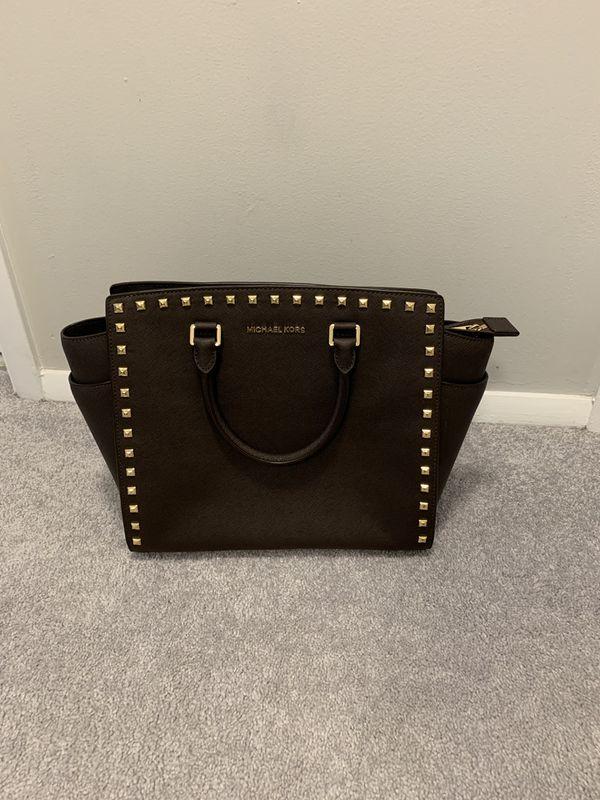 Brown Leather Michael Kors Purse