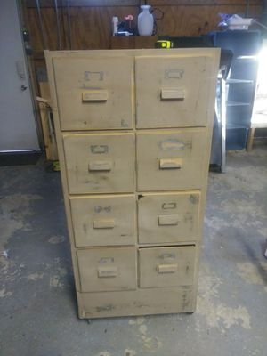 Antique vintage file cabinet for Sale in North Ridgeville, OH