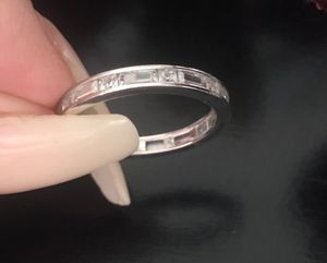 Size 7 sterling silver eternity ring for Sale in Denver, CO