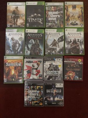 Xbox 360 and PS3 games make me a offer on all or one for Sale in Murfreesboro, TN