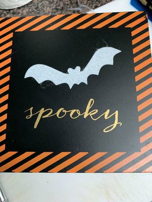 Spooky Halloween themed wooden canvas for Sale in Coral Gables, FL
