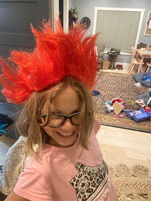 Red trolls child wig for Sale in Naperville, IL