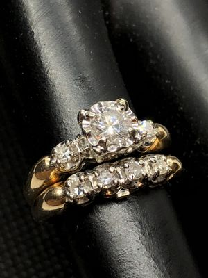 14k Diamond Wedding/Engagement Ring Set for Sale in Chula Vista, CA