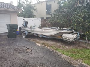 Free 17ft Terry bass boat with trailer for Sale in Boca Raton, FL