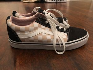 Pink checkered Vans (women's size 8.5) for Sale in Port St. Lucie, FL