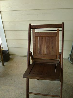 Antique folding chair with patent stamped on it for Sale in Spartanburg, SC