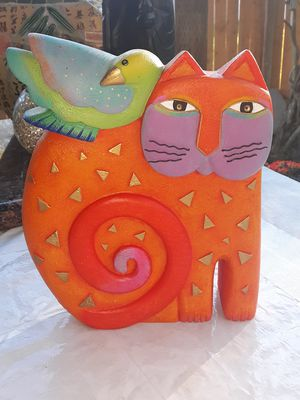 "Laurel Burch ""Kindred Spirits"" 1999 decorative Cat & Bird Statue for Sale in Tacoma, WA"
