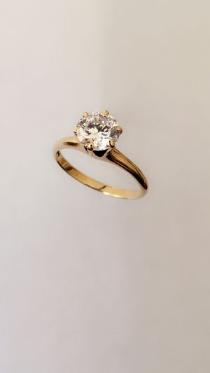 1 1/2 carat diamond ring - 14K gold - New for Sale in Houston, TX