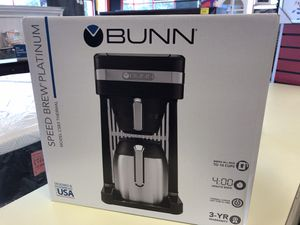 New Bunn Speed Brew Platium Coffee Maker for Sale in Virginia Beach, VA