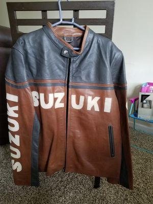 Suzuki motorcycle leather jacket for Sale in Wayne, MI
