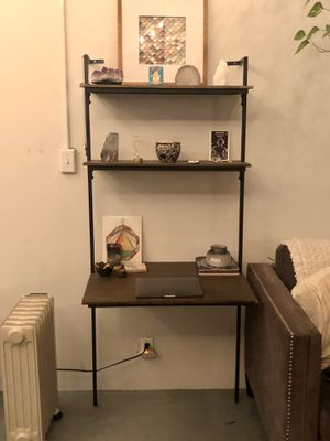 Three tier wall desk (wood/metal) for Sale in Beverly Hills, CA