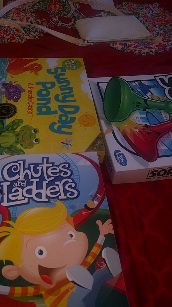 Kids games chutes and ladders,sorry ,sunny pond