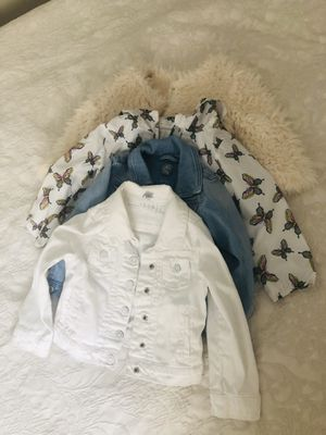 4 toddler girl jackets for 3T for Sale in Rancho Cordova, CA