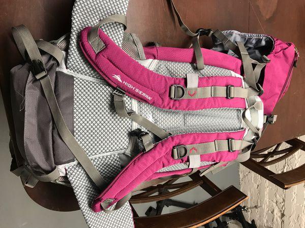 High Sierra summit camping backpack
