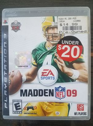 Madden 2009 for Playstation 3 PS3 (Free with purchase) for Sale in Tacoma, WA