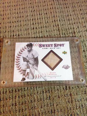 2001 Stan Musal Sweet Spot Game Used Bat Baseball Card Upper Deck B-SM for Sale in Portland, OR