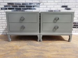 Credenza night stands/side tables. Stone gray for Sale in Westchester, CA