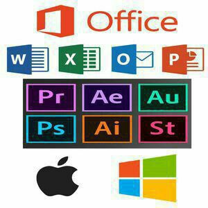 Adobe Illustrator, Photoshop, Premiere, After Effects, Microsoft Office and Final Cut Pro X For Mac and Windows for Sale in Boynton Beach, FL