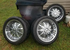 """3 22"""" Rims for Sale in Charlotte, NC"""