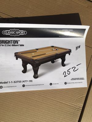 Brighton billiard table for Sale in Kingsburg, CA