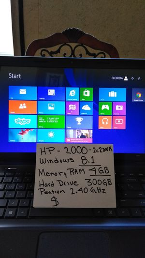HP computer laptop for Sale in West Palm Beach, FL