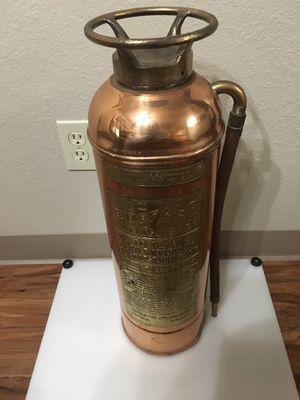 Vintage Copper Fire Extinguisher for Sale in Fair Oaks, OK