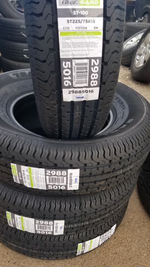 Trailer tires ST225/75/15 $90 each install include for Sale in Aurora, IL