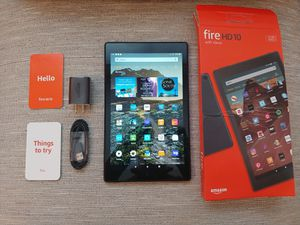 """Amazon Kindle Fire HD 10 - 10.1"""" Tablet (9th Gen, 2019) 32GB, 1080p + Google Playstore + Usb C - Black ( New Open Box!) for Sale in Kenmore, WA"""