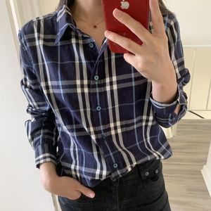 Burberry check shirt navy for Sale in Newport Beach, CA