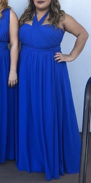 Royal Blue Neck Tie Halter Dress from Camille La Vie for Sale in Irving, TX