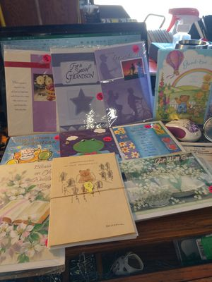 Various Greeting Cards Grandson, Sister, Get Well, etc. for Sale in Victorville, CA