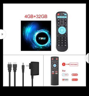 Android 10.0 TV Box 4GB RAM 32GB ROM Set Top Box T95 Allwinner H616 6K@30fps HD Cortex-A53 Smart Media Player HDMI for Sale in Turlock, CA