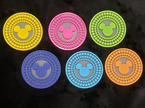 Set of 6 Silicone Disney Mickey Mouse Ears Coasters for Sale in Milton, FL