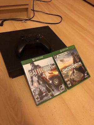 Xbox one X like new w/ games for Sale in Everett, WA