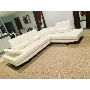 White couch 2 piece sectional for Sale in Houston, TX