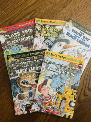 Black Lagoon series. 5 books. $15. Each book has 50-70 pages. For kindergarten- 1st grader is perfect. for Sale in Schaumburg, IL