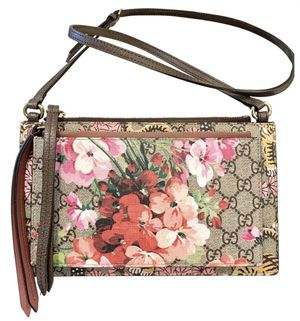 Gucci blooms bengal tiger brown canvas cross body bag for Sale in Rancho Cucamonga, CA