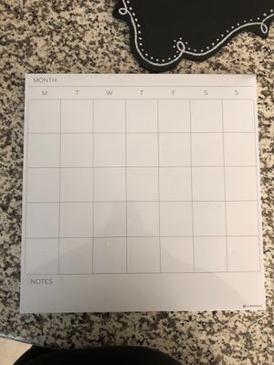 Whiteboard monthly calendar for Sale in Waxahachie, TX
