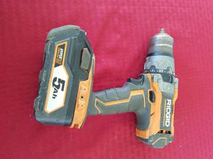 Ridgid hammer drill with battery for Sale in Lodi, CA