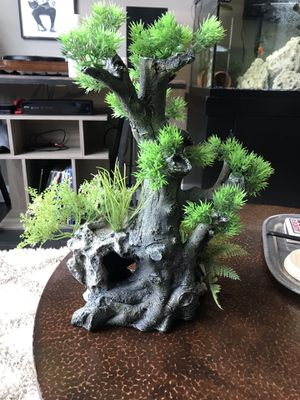 Fish Tank decoration-bonsai tree with cave for Sale in Denver, CO