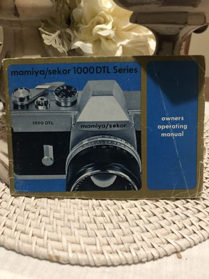 Mamiya/Sekor 1000 DTL Series Camera Owner's Operating Manual for Sale in Troup, TX
